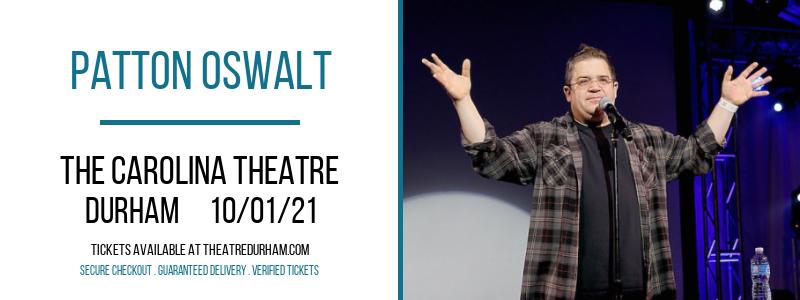 Patton Oswalt at The Carolina Theatre