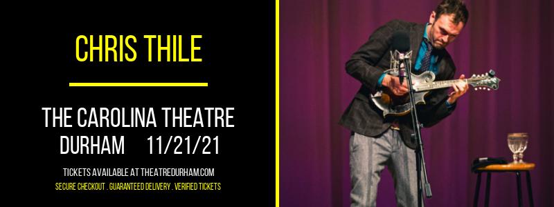 Chris Thile at The Carolina Theatre